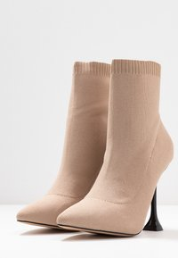 BEBO - PAYTON - High heeled ankle boots - nude - 4