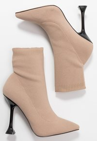 BEBO - PAYTON - High heeled ankle boots - nude - 3