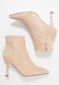 BEBO - IRENEE - Kotníková obuv na vysokém podpatku - nude - 3