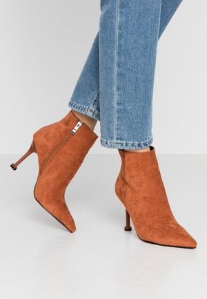 IRENEE - High heeled ankle boots - tan