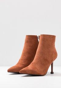 BEBO - IRENEE - High heeled ankle boots - tan - 4