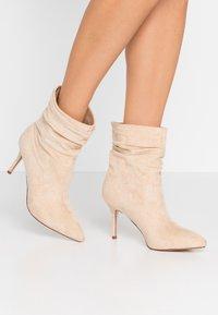 BEBO - LOGIC - High heeled ankle boots - nude - 0