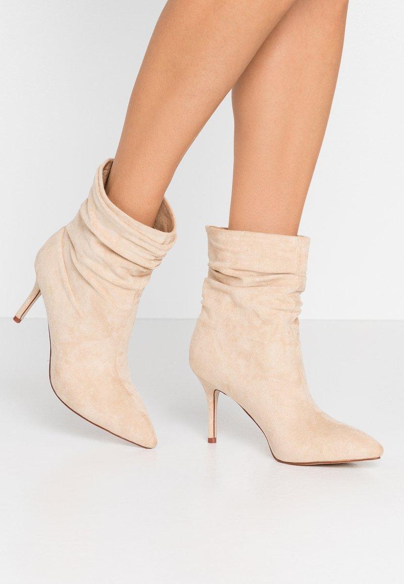 BEBO - LOGIC - High heeled ankle boots - nude