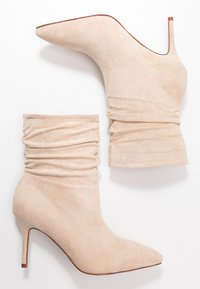 BEBO - LOGIC - High heeled ankle boots - nude - 3