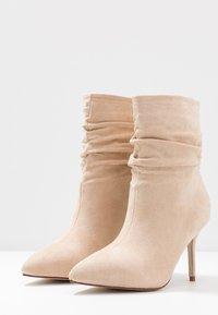 BEBO - LOGIC - High heeled ankle boots - nude - 4