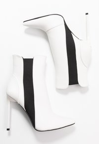 BEBO - AXELLE - High heeled ankle boots - white - 3