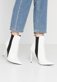 BEBO - AXELLE - High heeled ankle boots - white - 0