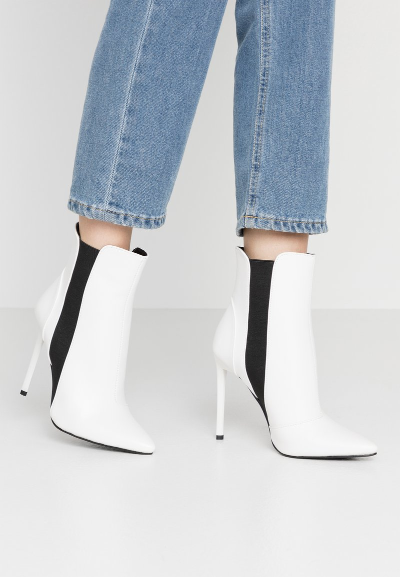 BEBO - AXELLE - High heeled ankle boots - white