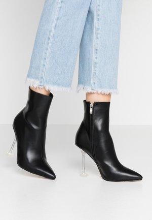 WINONA - Kotníková obuv na vysokém podpatku - black
