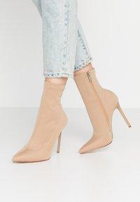 BEBO - JOHANNA - High heeled ankle boots - nude - 0