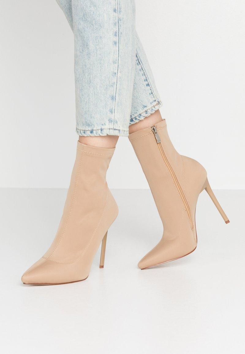 BEBO - JOHANNA - High heeled ankle boots - nude