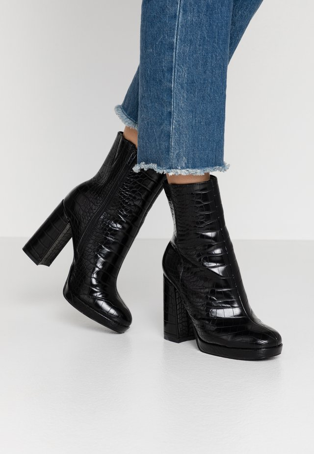 ARTHUR - High heeled ankle boots - black