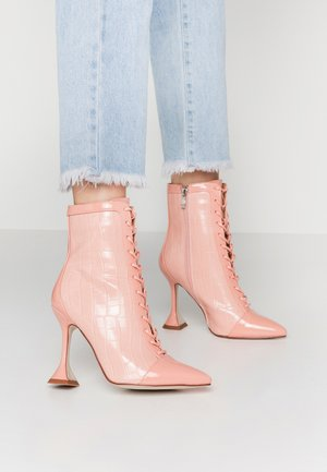 KEONA - High heeled ankle boots - blush