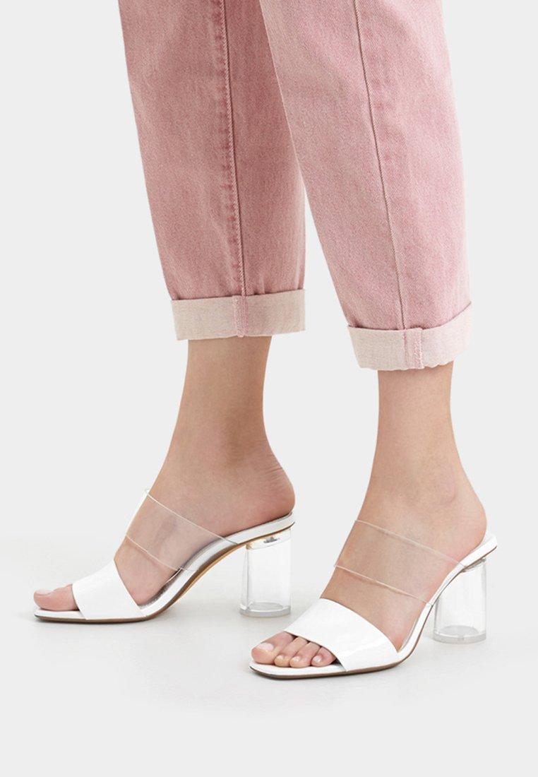 Bershka - Sandals - white