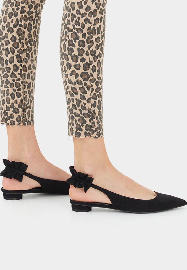 Bershka - Sling-Ballerina - black