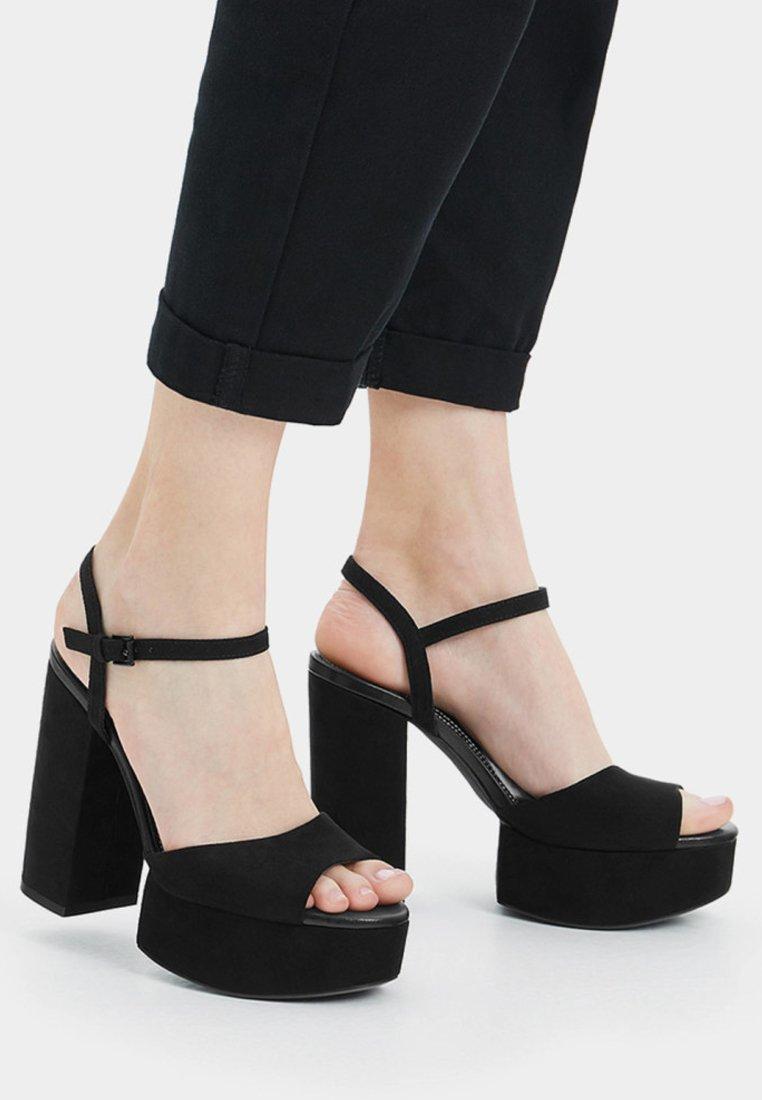 Bershka - High heeled sandals - black