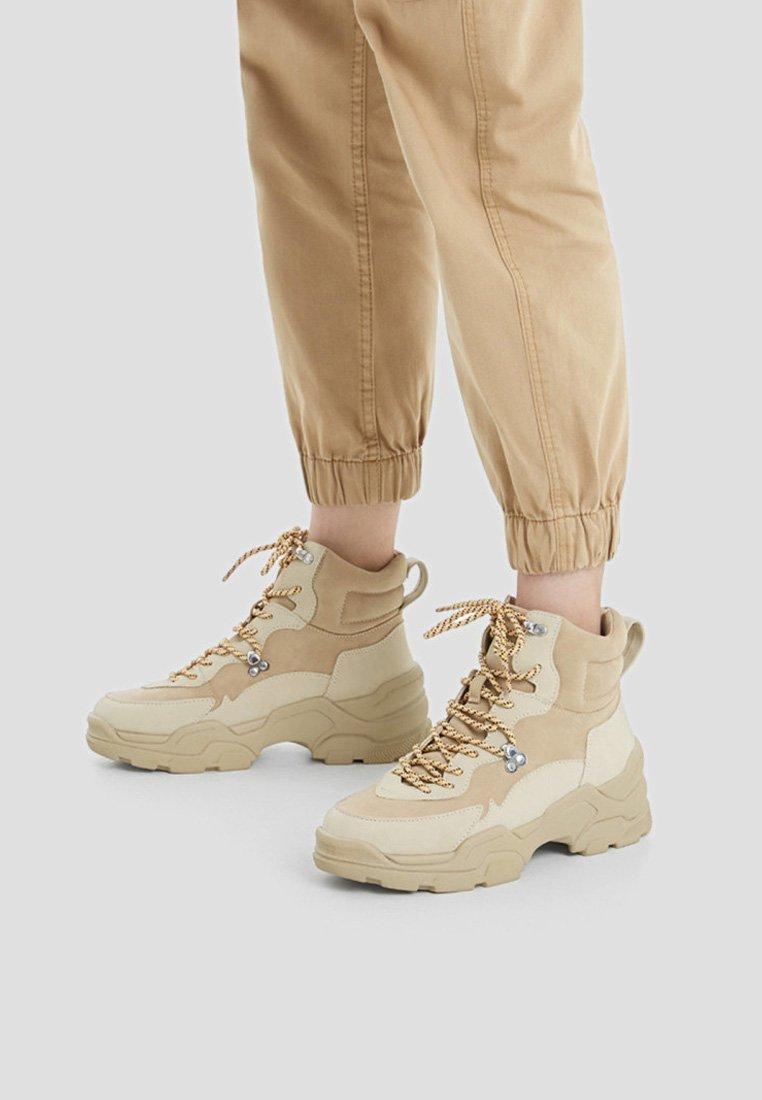 Bershka - High heeled ankle boots - beige