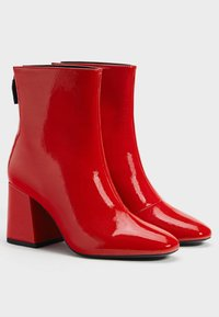 Bershka - Classic ankle boots - red - 2