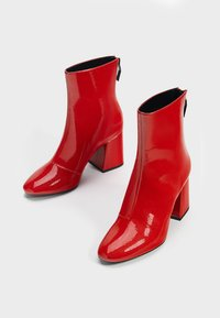 Bershka - Classic ankle boots - red - 3