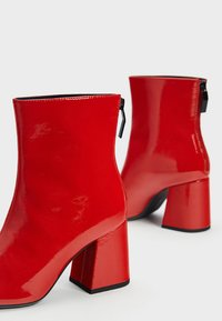 Bershka - Classic ankle boots - red - 4