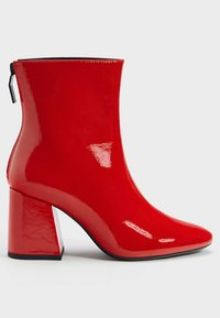 Bershka - Classic ankle boots - red - 5