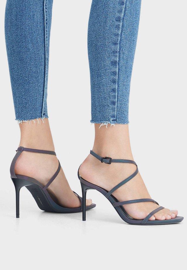 Sandály na vysokém podpatku - blue