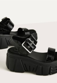 Bershka - Platform sandals - black - 6