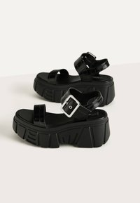 Bershka - Platform sandals - black - 2