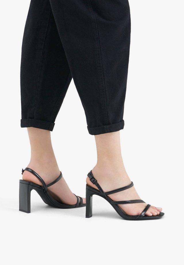 MIT ABSATZ - Sandalen met hoge hak - black