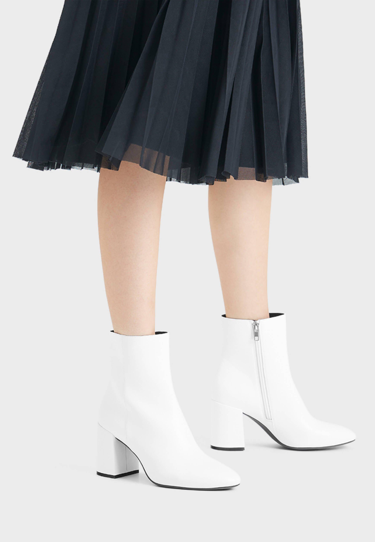Białe Botki damskie zamów w ZALANDO: bezpłatna przesyłka