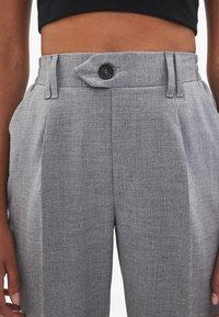 Bershka - Trousers - light grey - 3