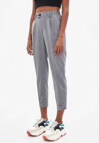 Bershka - Trousers - light grey - 0