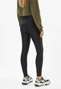 Bershka - Leggings - Trousers - black - 2