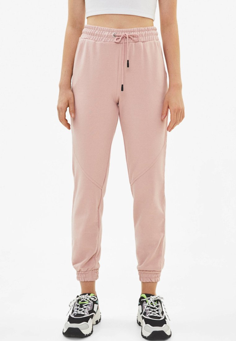 Bershka - Tracksuit bottoms - rose