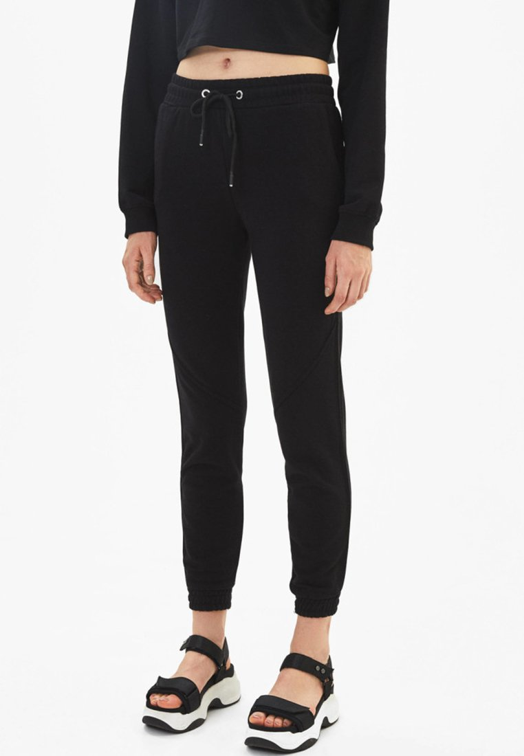 Bershka - Trainingsbroek - black