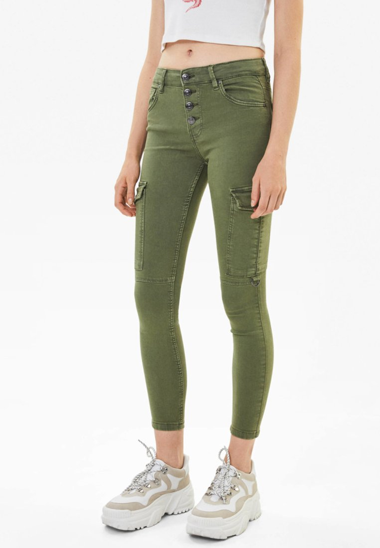 Bershka - Jeans Skinny - khaki