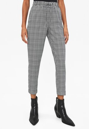 Trousers - white/black