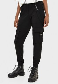 Bershka - Cargobroek - black - 0