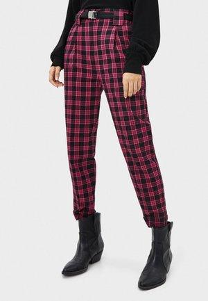 Spodnie materiałowe - neon pink