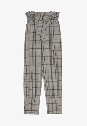 MIT GÜRTEL  - Pantalon classique - light grey