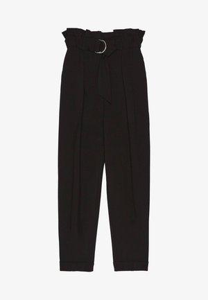 MIT GÜRTEL  - Spodnie materiałowe - black