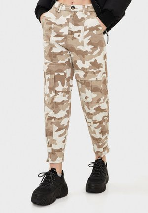 CARGOHOSE MIT CAMOUFLAGEPRINT 00179019 - Cargo trousers - brown