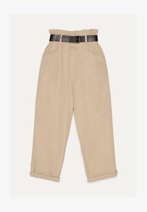 PAPERBAG - Kalhoty - beige