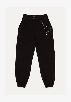 JOGGINGHOSE MIT KETTE 00075168 - Trainingsbroek - black
