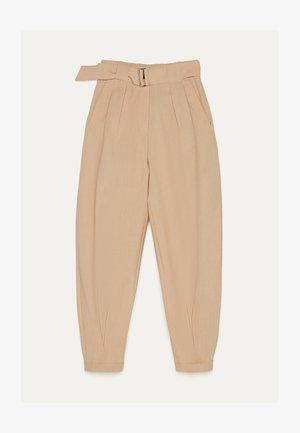 SLOUCHY - Pantalon classique - stone