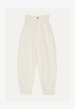 MIT STRETCHBUND  - Trousers - beige