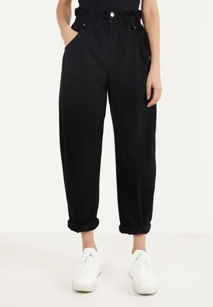 MIT STRETCHBUND  - Trousers - grey