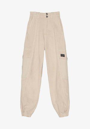 Kalhoty - mottled beige