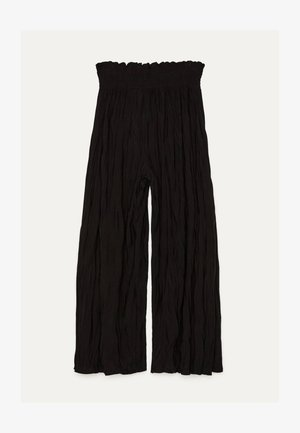 MIT TEXTUR - Kalhoty - black