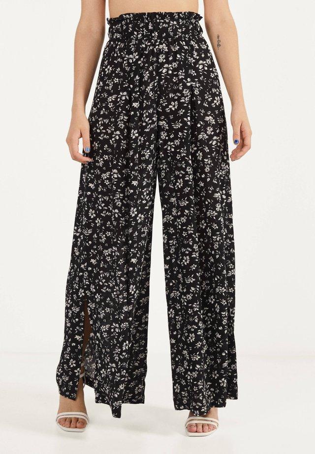 BLUMENPRINT - Pantalon classique - black